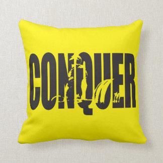 Weight Lifting Motivation - CONQUER Throw Pillow