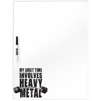 """Weight lifting"" Motivation - Heavy Metal Dry Erase Board"