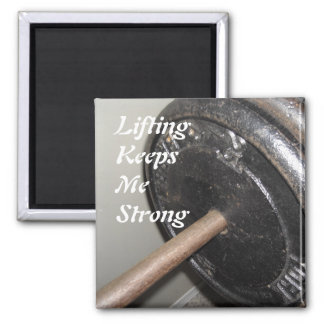 Weight Lifting Motivational Message 2 Inch Square Magnet