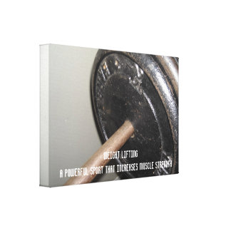 Weight Lifting Motivational Message Gallery Wrapped Canvas