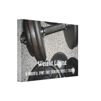 Weight Lifting Motivational Message Canvas Print