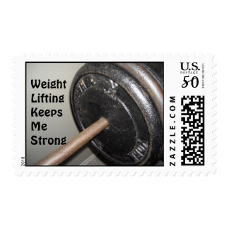 Weight Lifting Motivational Message Postage
