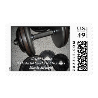 Weight Lifting Motivational Message Postage Stamps