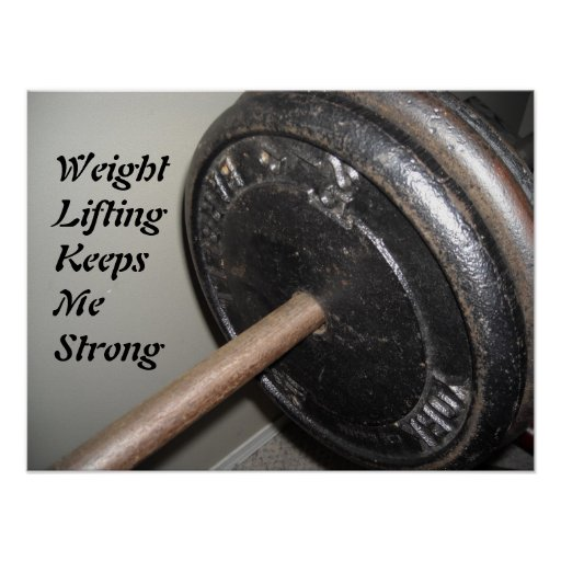 Weight Lifting Motivational Message Poster
