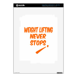 Weight Lifting Never Stops iPad 3 Skins
