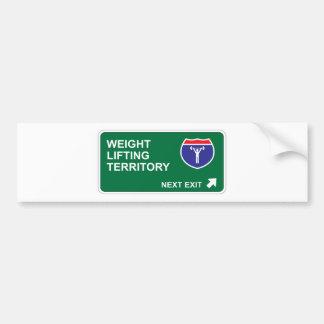 Weight Lifting Next Exit Bumper Sticker