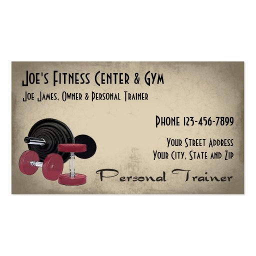weight lifting personal trainer business card zazzle