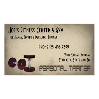 Weight Lifting Personal Trainer Business Card