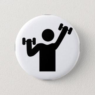 Weight Lifting Pinback Button