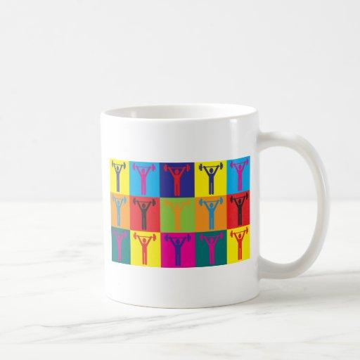 Weight Lifting Pop Art Coffee Mugs