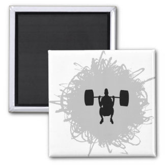 Weight Lifting Scribble Style Magnet