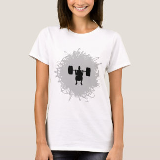 Weight Lifting Scribble Style T-Shirt
