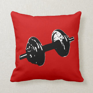 weight lifting throw pillow