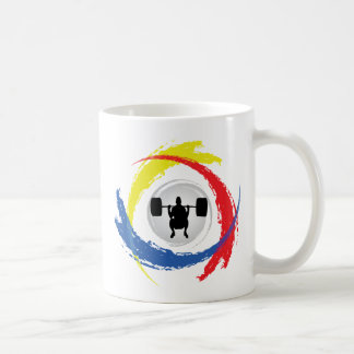 Weight Lifting Tricolor Emblem Coffee Mug