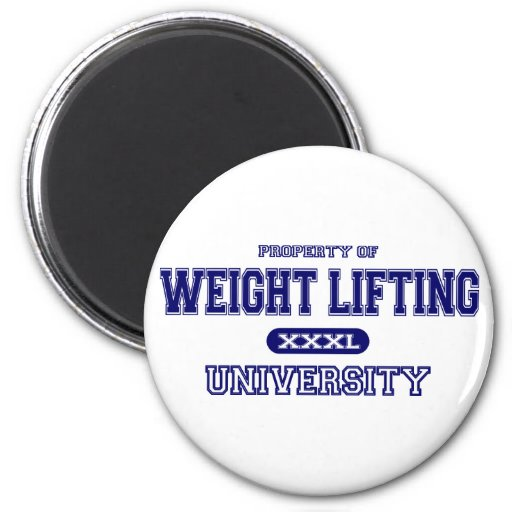 Weight Lifting University 2 Inch Round Magnet