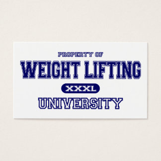 Weight Lifting University Business Card