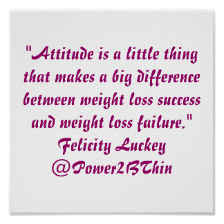 Weight Loss Attitude Poster