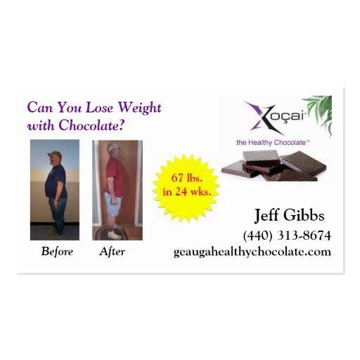 weight loss biz card business cards zazzle