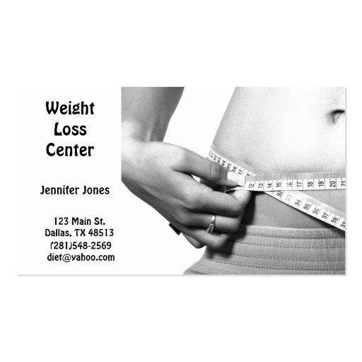 weight loss business card zazzle