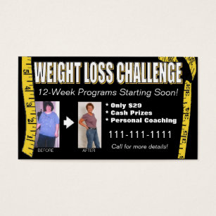 Weight loss business cards templates zazzle weight loss challenge business card colourmoves Gallery