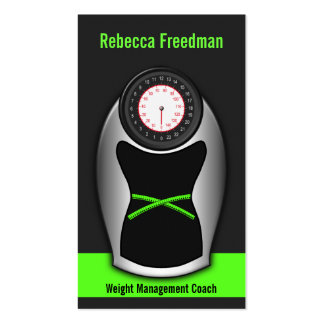 Weight Loss Coach Business Cards - Black and Green