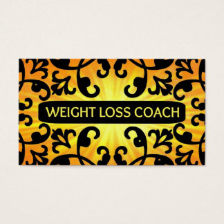 Weight Loss Coach Sunshine Damask Business Card