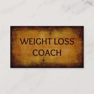 Weight loss business cards templates zazzle weight loss coach wood grain business card colourmoves