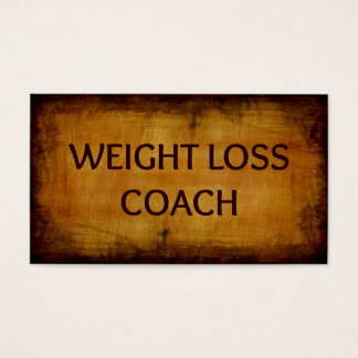 Weight Loss Coach Wood Grain Business Card