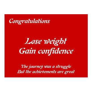 Weight loss congratulation cards post card