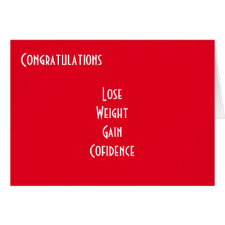 Weight loss congratulations greeting cards