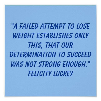 Weight Loss Determination 2 Poster