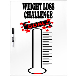 Weight Loss Goal Thermometer BLANK Dry Erase Boards