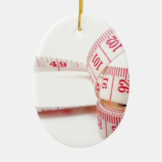 Weight Loss Measuring Tape Ceramic Ornament