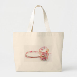 Weight Loss Measuring Tape Large Tote Bag