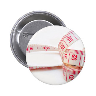 Weight Loss Measuring Tape Pinback Button