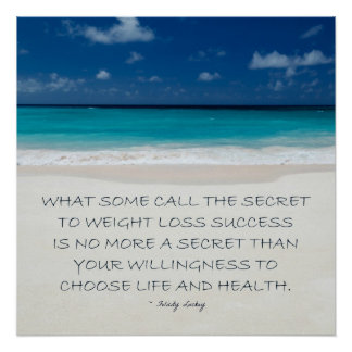 Weight Loss Motivation: Beach Ready 12 Poster