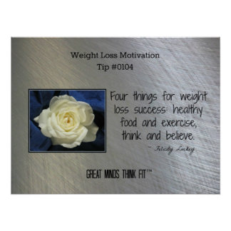 Weight Loss Motivation Poster Tip #0104