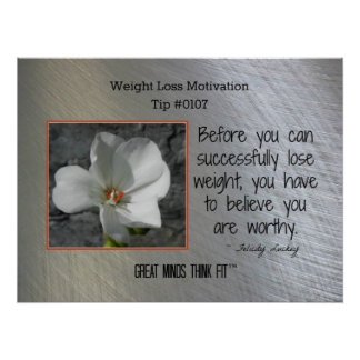 Weight Loss Motivation Poster Tip #0107