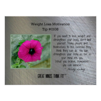 Weight Loss Motivation Poster Tip #0108