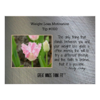 Weight Loss Motivation Poster Tip #0110