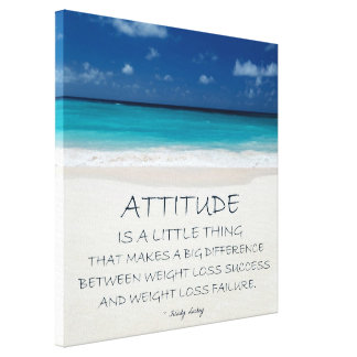 Weight Loss Motivational Canvas: Beach 01 Canvas Print