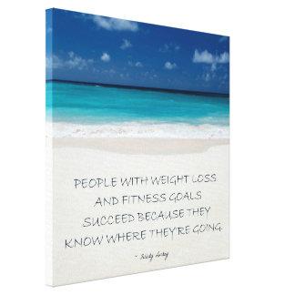 Weight Loss Motivational Canvas: Beach 05 Canvas Print