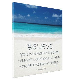 Weight Loss Motivational Canvas: Beach 08 Canvas Print