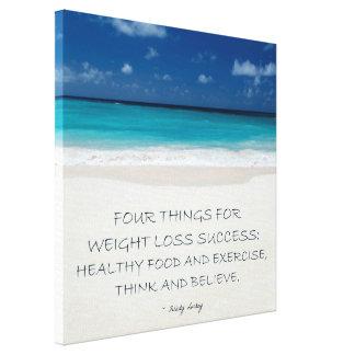 Weight Loss Motivational Canvas: Beach 10 Canvas Print