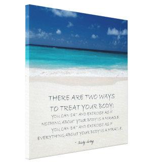 Weight Loss Motivational Canvas: Beach 19 Canvas Print