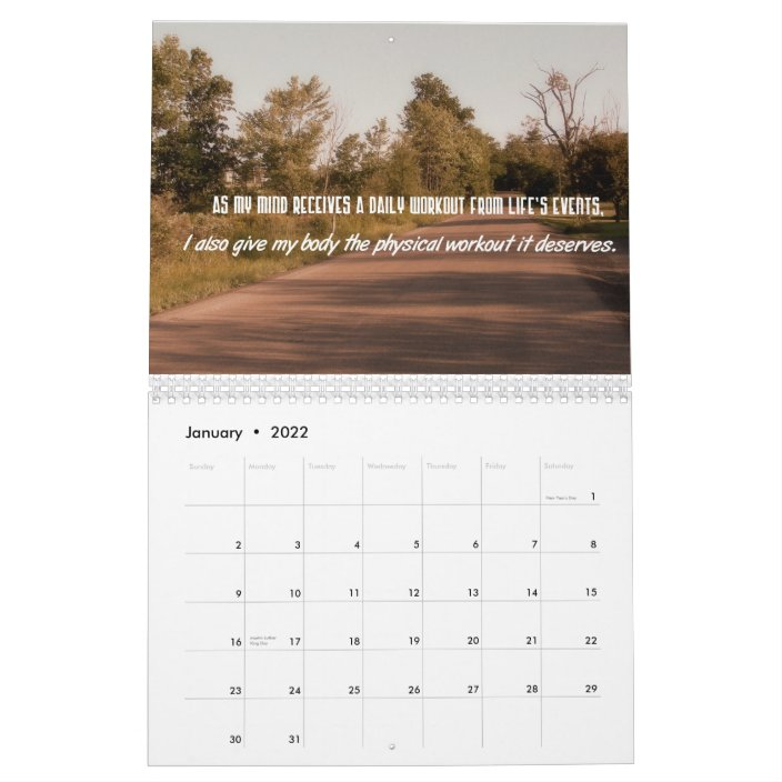 Weight Loss Calendar 2022.Weight Loss Motivational Quotes Calendar Zazzle Com