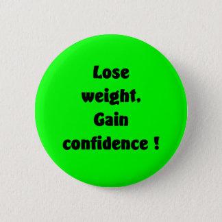 Weight loss pinback button