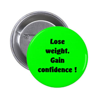 Weight loss pinback button