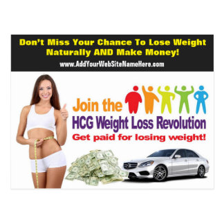 Weight Loss Postcard