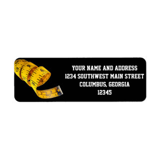 Weight Loss Yellow Tape Measure Return Address Labels